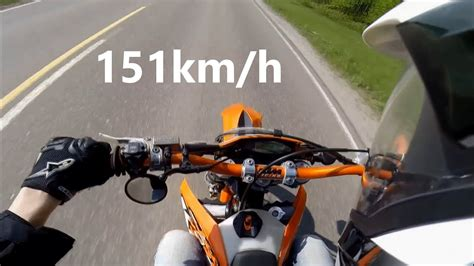 KTM EXC 125 0-100km/h and Top Speed - YouTube
