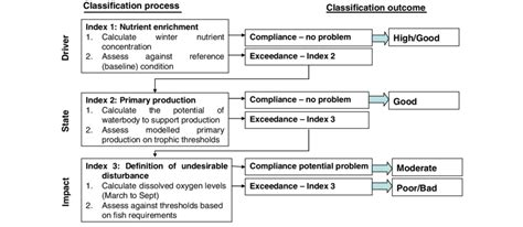 Representation of classification process, linking WFD