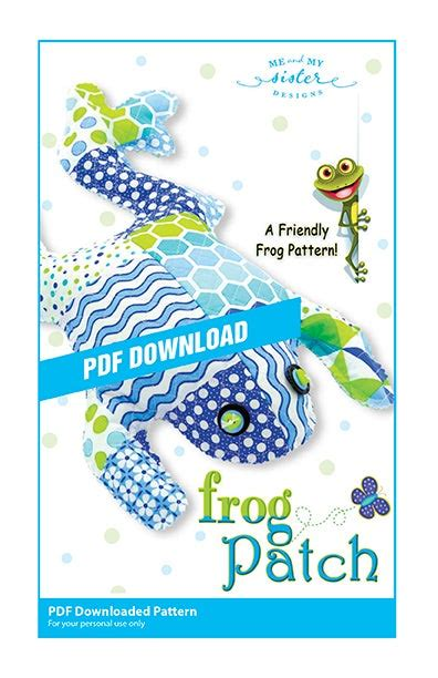 Frog Patch Electronic PDF pattern   Me and My Sister Designs